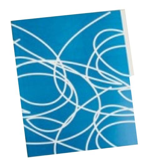 Folder Reciclado Vanguardia Azul