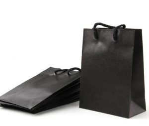 bolsas de papel kraft negro